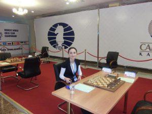 Carmen Voicu-Jagodzinsky, rumänische Schachgroßmeisterin und einzige Frau in NRW mit Trainer A-Lizenz